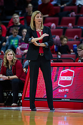 NORMAL, IL - February 07: Kristen Gillespie during a college women's basketball game between the ISU Redbirds and the Braves of Bradley University February 07 2020 at Redbird Arena in Normal, IL. (Photo by Alan Look)