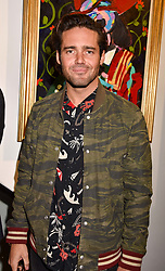 Spencer Matthews at a private view of work by Bradley Theodore entitled 'The Second Coming' at the Maddox Gallery, 9 Maddox Street, London England. 19 April 2017.