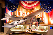 "Wisconsin, USA, Oshkosh, Air Venture Experimental Aviation Association (EAA) Museum, The ""Spirit of St. Louis"" Charles Lindbergh's plane, the first trans-Atlantic flight, November 2006"