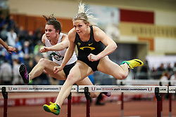 Don Kirby Invitational Indoor Track & Field<br /> Albuquerque, NM, Feb 14, 2020<br /> womens 60 hurdles, Oregon
