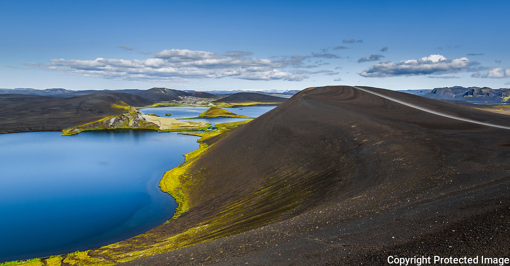 The Veiðivötn lakes, formed by a series of volcanic eruptions in 1477-78.