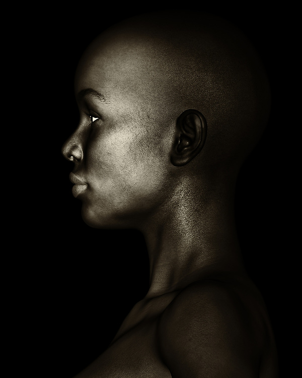 This fine art piece by Jan Keteleer shows the inherent wonder in the beauty of the human form. This black and white profile depicts a powerful subject, to be sure. It is very easy to lose yourself in the wonder of the details that come to define everything this image has to offer. There is a quiet determination to a face like this. When you look deeper into the eyes, you can imagine quite easily the possibilities of the life this woman has lived so far. Of course, you will never know for sure, but you can't help but speculate on her history nonetheless.<br /> -<br /> BUY THIS PRINT AT<br /> <br /> FINE ART AMERICA<br /> ENGLISH<br /> https://janke.pixels.com/featured/black-and-white-profile-of-an-african-woman-jan-keteleer.html<br /> <br /> WADM / OH MY PRINTS<br /> DUTCH / FRENCH / GERMAN<br /> https://www.werkaandemuur.nl/nl/shopwerk/Vrouw-Portretten---Zwart-wit-Profiel-Van-Een-Afrikaanse-Vrouw/479724/134