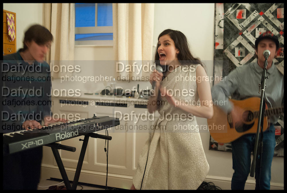 ANDREW FORD; EVANGELINE LING; KEVIN EMERY, The Launch of OSMAN the Collective No.3, hosted by Valeria Napoleone, Kensington. 15 May 2014.LINEDOTS DEBUT CONCERT;