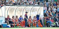 AMSTERDAM - Hockey -  Dug Out Nederland. ) . Interland tussen de vrouwen van Nederland en Groot-Brittannië, in de Rabo Super Serie 2016 .  COPYRIGHT KOEN SUYK