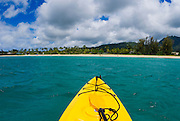 Kayak on Hanalei Bay, North Shore, Island of Kauai, Hawaii