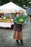 Ginger Edwards (owner of North Fork 53 / Revolution Gardens) armers market in Manzanita, Oregon.