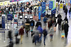 November 20, 2018 - Rosemount, MN, USA - The flow began at MSP Tuesday afternoon as folks tried to get a jump on their holiday travels. Everything seemed to be going well as of 4:30pm when lines were manageable and the crowds were at a minimum. ]..BRIAN PETERSON • brian.peterson@startribune.com..Minneapolis,  MN 11/20/2018. (Credit Image: © Brian Peterson/Minneapolis Star Tribune via ZUMA Wire)