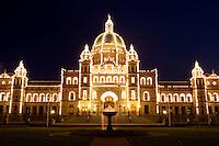 Parliament Building at Night, Victoria, British Columbia