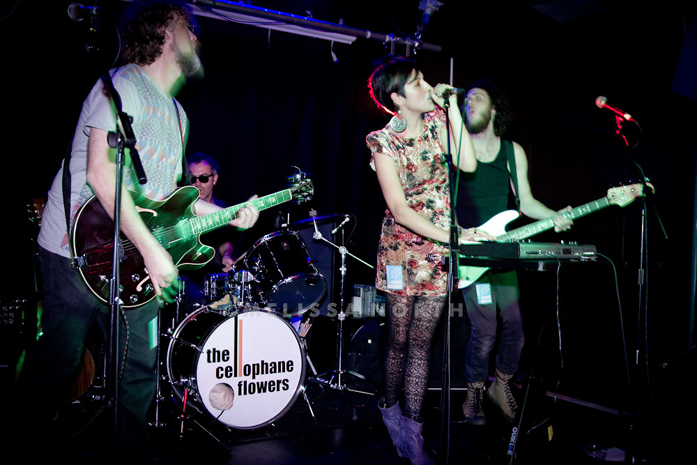 The Cellophane Flowers perform live on stage at Pure Festival, The Garage, London on 25 September 2011.