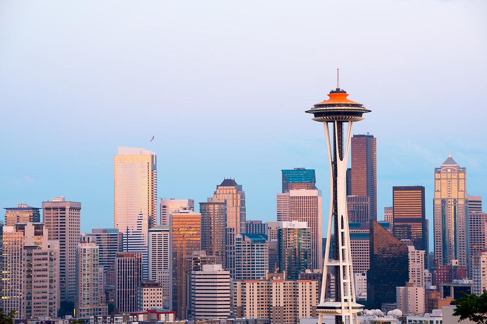 Skyline of  downtown Seattle, Washington State