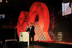 Presenters ROB BRYDON and DAVID WALLIAMS at the GQ Men of The Year Awards 2012 held at The Royal Opera House, London on 4th September 2012.