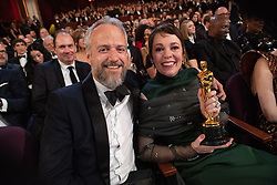 Olivia Colman, Oscar® winner, poses with Ed Sinclair during the live ABC Telecast of The 91st Oscars® at the Dolby® Theatre in Hollywood, CA on Sunday, February 24, 2019.