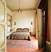 A bedroom in the Al Mamlouka hotel in Damascus, Syria