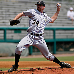 June 05, 2011; Tallahassee, FL, USA; UCF Knights pitcher Nick Cicio (34) throws against the Alabama Crimson Tide during the second inning of the Tallahassee regional of the 2011 NCAA baseball tournament at Dick Howser Stadium. Mandatory Credit: Derick E. Hingle