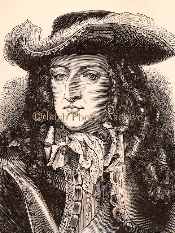 William III (1650-1702) joint monarch of Great Britain and Ireland from 1688-1694 with his wife Mary II, and king alone after her death. Wood engraving c1900.