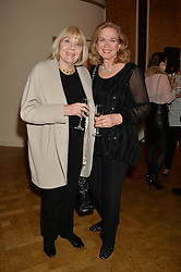 Left to right, DAME DIANA RIGG and actress VALERIE LEON at a party to celebrate the publication of  'I Used to be in Pictures' an untold story of Hollywood by Austin Mutti-Mewse and Howard Mutti-Mewse held at The Lansdowne Club, London on 6th March 2014.