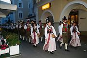 Lienz, Tyrol, Austria Tyrolean musicians in trditional dress