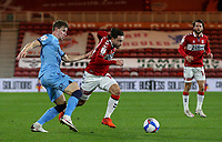 Middlesbrough's Patrick Roberts gets away from Coventry City's Ben Sheaf<br /> <br /> Photographer Alex Dodd/CameraSport<br /> <br /> The EFL Sky Bet Championship - Middlesbrough v Coventry City - Tuesday 27th October 2020 - Riverside Stadium - Middlesbrough<br /> <br /> World Copyright © 2020 CameraSport. All rights reserved. 43 Linden Ave. Countesthorpe. Leicester. England. LE8 5PG - Tel: +44 (0) 116 277 4147 - admin@camerasport.com - www.camerasport.com