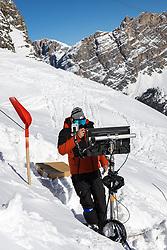 14.02.2021, Cortina, ITA, FIS Weltmeisterschaften Ski Alpin, Abfahrt, Herren, im Bild Markus Waldner (FIS Chef Renndirektor Weltcup Ski Alpin Herren) // Markus Waldner Chief Race Director World Cup Ski Alpin Men of FIS in action during the mens Downhill Race of FIS Alpine Ski World Championships 2021 in Cortina, Italy on 2021/02/14. EXPA Pictures © 2021, PhotoCredit: EXPA/ Johann Groder