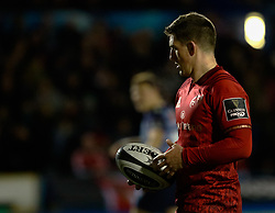 Munster's Ian Keatley<br /> <br /> Photographer Simon King/Replay Images<br /> <br /> Guinness PRO14 Round 15 - Cardiff Blues v Munster - Saturday 17th February 2018 - Cardiff Arms Park - Cardiff<br /> <br /> World Copyright © Replay Images . All rights reserved. info@replayimages.co.uk - http://replayimages.co.uk