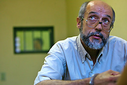Presídio de Charqueadas, Mário Barreiro, 54, ex-agente secreto do serviço de inteligência do governo do Uruguai está preso por tráfico de armas, falsidade ideológica e formação de quadrilha.  Diz que espionou Jango de 1973 até o dia de sua morte em 6 dezembro de 1976. FOTO: Itamar Aguiar/ Agência Preview