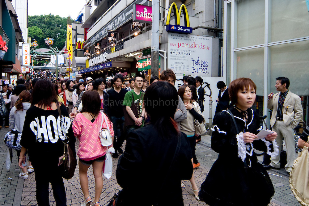 "Harajuku is reknowned for its outrageous youth fashions and ""bo beep"" girls. Editorial Only.."