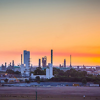 Sunset over the Kwinana Industrial Area, shot from the Perth Motorplex.
