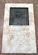 Relief of General Mariano Borgatti. A detail from the Castel Sant'Angelo, Rome, Italy. In the early 20th century he, as General of Military Engineering oversaw refurbishment work to the site. 1925 marked the end of the restoration works.