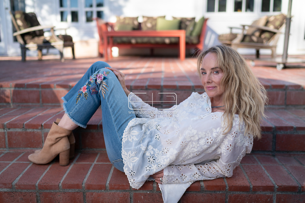 December 30, 2020. Santa Barbara, California. Singer and actress, Chynna Phillips, a member of the vocal group Wilson Phillips and daughter of The Mamas & the Papas band members John and Michelle Phillips.<br /> Photo copyright John Chapple / www.JohnChapple.com