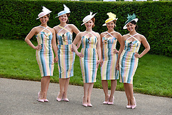 29 July 2021 - The QATAR Goodwood Festival Ladies Day at Goodwood Racecourse, West Sussex.<br /> Picture Shows - Elle and The Pocket Belles.<br /> <br /> <br /> NON EXCLUSIVE - WORLD RIGHTS