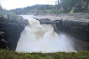 Trout River at Samdaa Deh Falls on the Waterfalls Route (Highway) (Mackenzie Highway)<br /> Samdaa Deh Falls Territorial Park<br /> Northwest Territories<br /> Canada