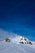 View of Le Pic du Midi de Bigorre, from La Mongie ski resort,  Bagnères-de-Bigorre, France.