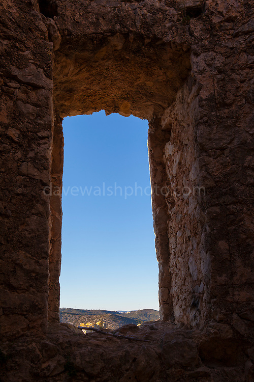 Castell Vell d'Olivella, - the old castle of Olivella. Olivella, Parc Natural de Garraf, Catalonia, Spain. Part of a 10th century defensive system from Christians were trying to recapture Spain from the Muslim rulers.