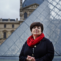 PARIS, FRANCE. SEPTEMBER 12, 2013. Ana Soto in front of the Pyramide du Louvre. She's one of the leading researchers at Tufts School of Medicine and has been named to a Blaise Pascal Chair in France for the coming year at the Ecole Normale Superieure. Photo: Antoine Doyen