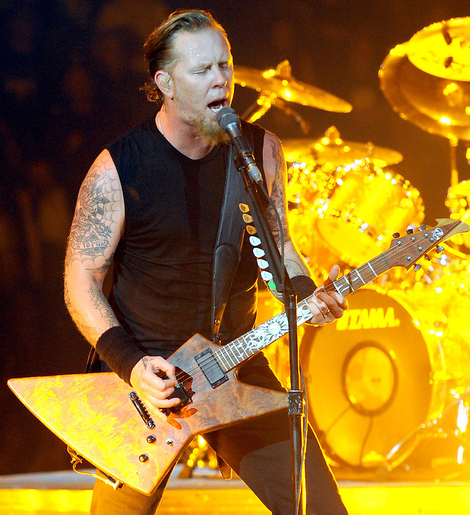 Metallica  Live at the 02  Monday Night <br /> Lead singer James Hetfield <br /> Pix Dave Nelson