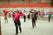China, Beijing, Tai Chi at the Pagoda of the Sky