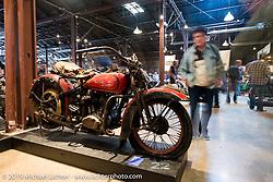 Trent Schara's 1934 Harley-Davidson VLD Barnfind on Saturday at the Handbuilt Motorcycle Show. Austin, TX. April 11, 2015.  Photography ©2015 Michael Lichter.