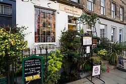 View of Nom de Plume cafe on Broughton Street in Edinburgh New Town, Scotland, UK