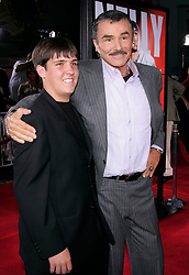 May 19, 2005; Hollywood, California, USA; Actor BURT REYNOLDS & son QUINTON at 'The Longest Yard' World Premiere held at the Chinese Theatre. Mandatory Credit: Photo by Lisa O'Connor/ZUMA Press. (©) Copyright 2005 by Lisa O'Connor
