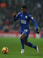 Demarai Gray of Leicester City during the English Premier League match at the Bet 365 Stadium, Stoke on Trent. Picture date: December 17th, 2016. Pic Simon Bellis/Sportimage