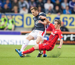 Falkirk's Alan Maybury and Rangers David Templeton. Falkirk 0 v 2 Rangers, Scottish Championship game played 15/8/2014 at The Falkirk Stadium.