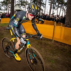 26-12-2019: Cycling: CX Worldcup: Heusden-Zolder: Corne van Kessel showing a strong effort+