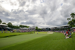 May 5, 2019 - Charlotte, North Carolina, United States of America - A view of the eighteenth green during the final round of the 2019 Wells Fargo Championship at Quail Hollow Club on May 05, 2019 in Charlotte, North Carolina. (Credit Image: © Spencer Lee/ZUMA Wire)