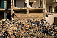A building completly destroied by the IDF tanks in northern Gaza strip