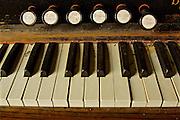 Northcentral Pennsylvania, antique organ keys, Historic ME Church, West Burlington, PA, Bradford County