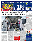 August 24, 2021 - UK: Front-page: Today's Newspapers In United Kingdom