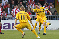 Photo: Pete Lorence.<br />Lincoln City v Bristol Rovers. Coca Cola League 2. Play off, Semi Final 2nd Leg. 17/05/2007.<br />Stuart Campbell celebrates taking Bristol Rovers into an early lead.