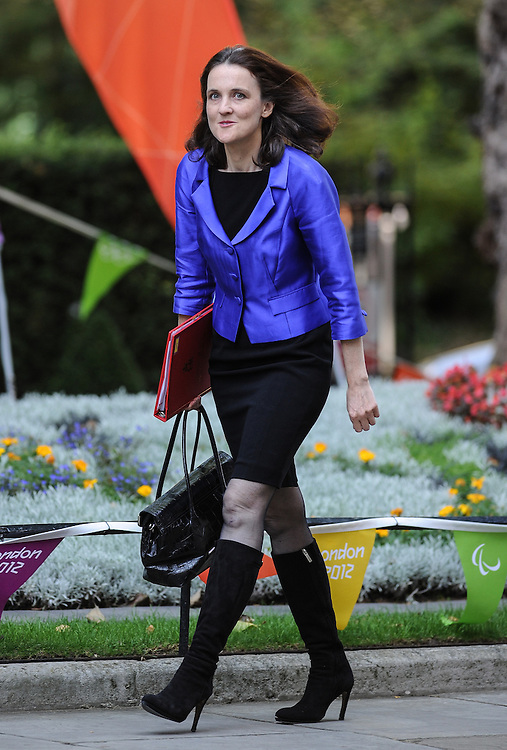 Theresa Villiers Northern Ireland Secretary  arrives at Downing Street ahead of the first cabinet meeting since the re-shuffle  after the summer recess on September 5th 2012...Ki Price