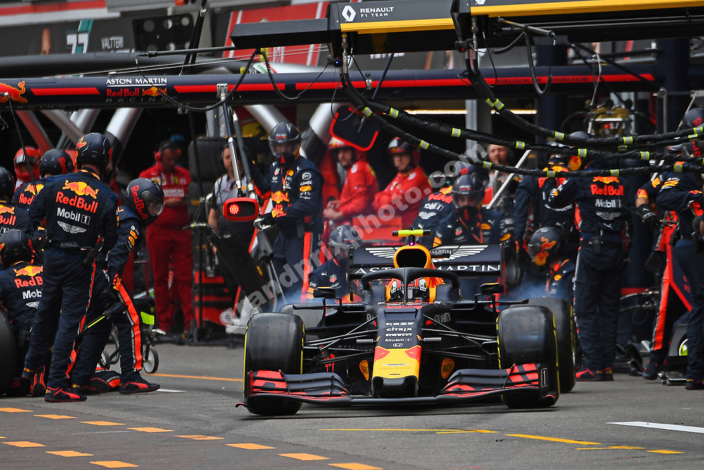 Pierre Gasly (Red Bull-Renault) exits the pits during the 2019 Monaco Grand Prix. Photo: Grand Prix Photo