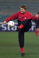 Fotball: Liverpool John Arne Riise training at the Olympic Stadium in Rome ahead of his side's UEFA Champions League Group B match against AS Roma.